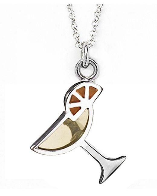 Jan Leslie   Yellow Martini Glass Pendant / Charm Necklace   Lyst