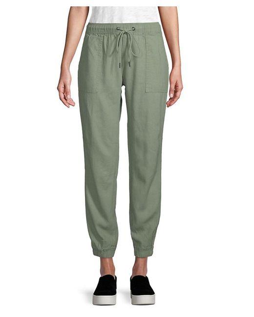 Sanctuary - Green Linen Sweatpants - Lyst