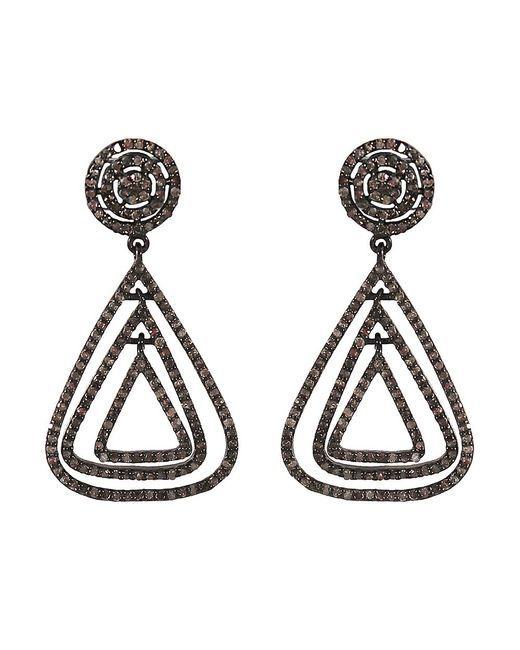 Adornia   Metallic Champagne Diamond And Sterling Silver Marquis Earrings   Lyst