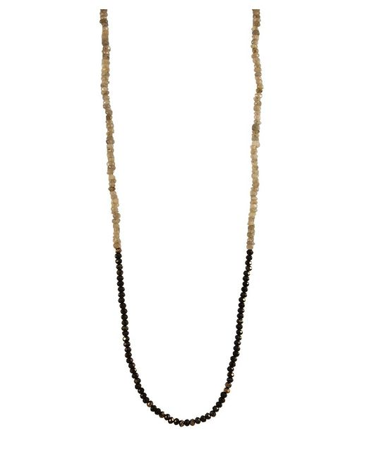 Adornia | Green Labradorite And Black Spinel Belle Necklace | Lyst