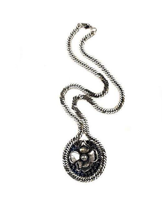 Nicole Romano | Black Capita Necklace | Lyst