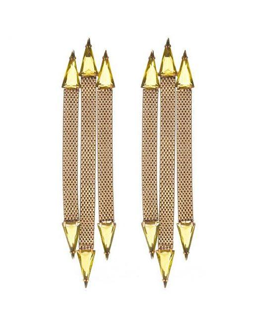 Nicole Romano | Metallic Trident Earrings | Lyst