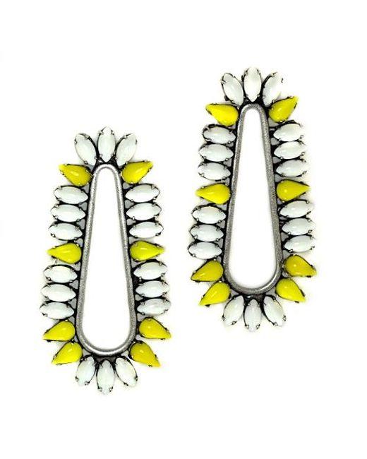 Nicole Romano | Yellow Cliffbar Earrings | Lyst