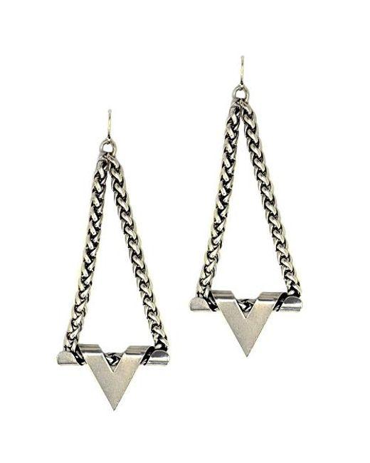 Nicole Romano | Metallic Plunge Earrings | Lyst