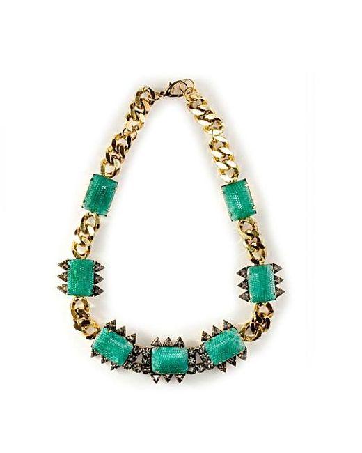 Nicole Romano   Green Bohai Necklace   Lyst