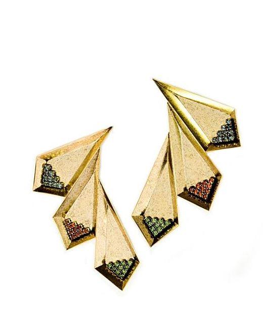 Nicole Romano   Metallic Ruolan Earrings   Lyst