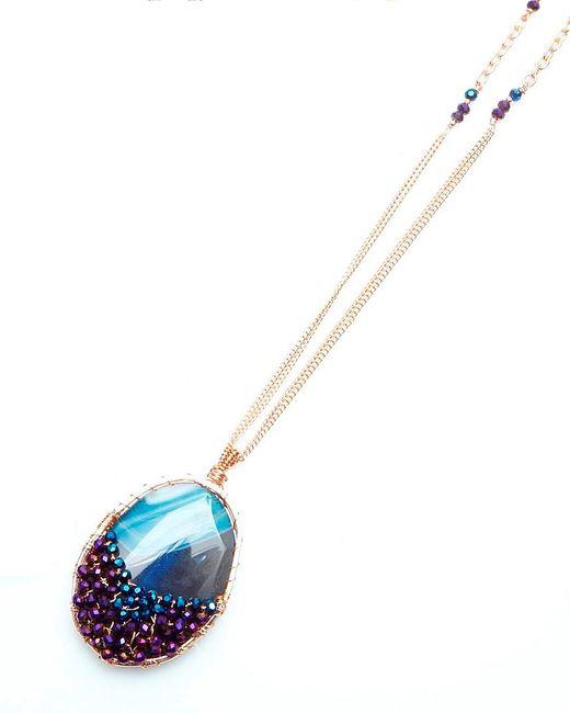 Nakamol | Multicolor Imogen Pendant Necklace-violet | Lyst