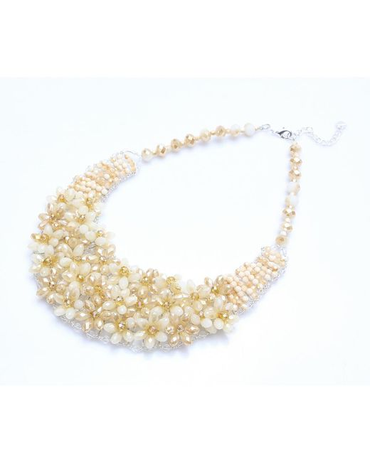 Nakamol   Multicolor Velvet Garden Necklace-beige   Lyst