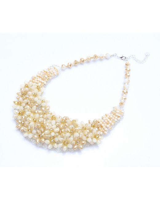 Nakamol | Multicolor Velvet Garden Necklace-beige | Lyst