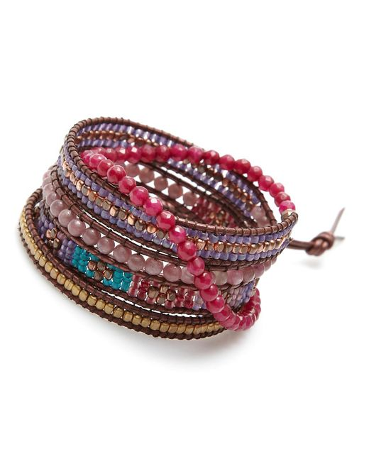 Nakamol | Multicolor Luminous Wrap Bracelet-ruby | Lyst