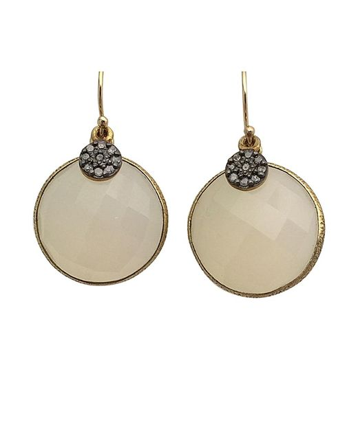Blue Candy Jewelry | White Lollipop Gemstone Earrings With Pave Diamond | Lyst