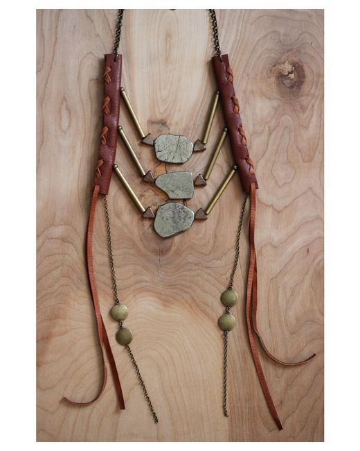 Love Leather | Multicolor Bronze Dynasty Necklace | Lyst