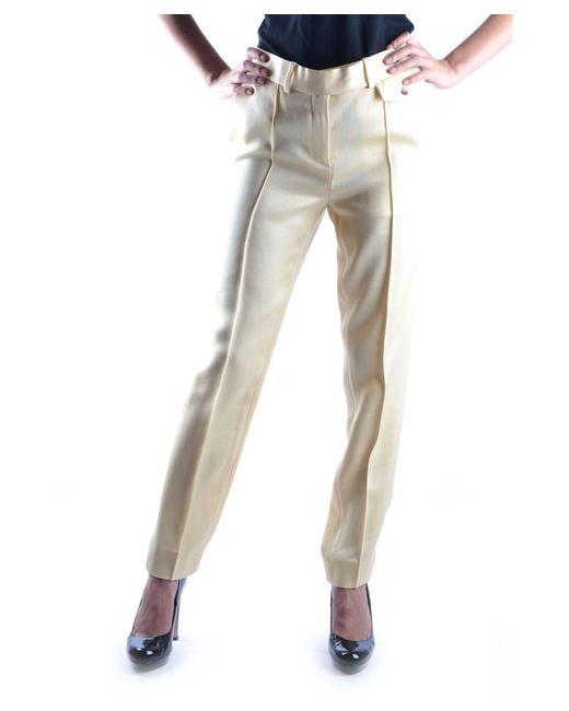 Céline | Women's Yellow Viscose Pants | Lyst