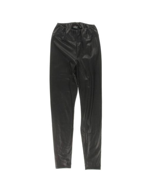 d9c155089ff897 ... Lauren by Ralph Lauren - Black Womens Alatea Faux Leather Pull On  Leggings - Lyst ...