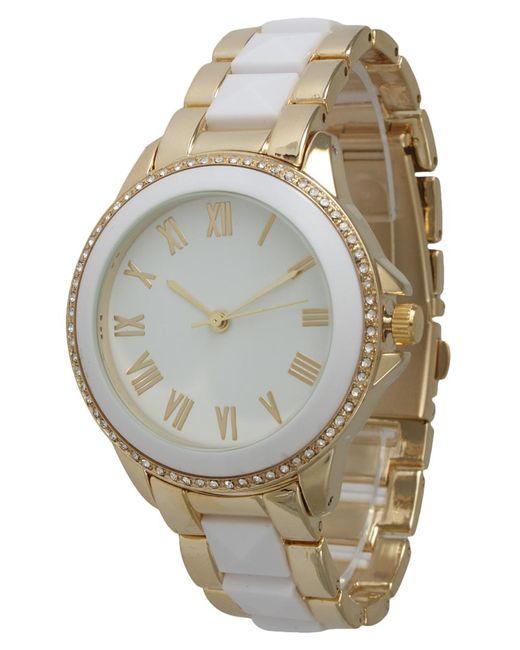Olivia Pratt | White Elegant Pyramid Stud Bracelet Watch | Lyst