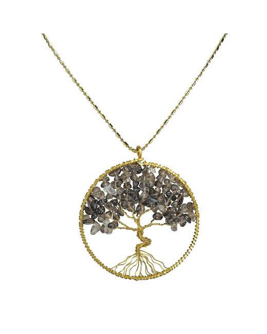 Aeravida | Metallic Eternal Tree Of Life Brass Long Necklace | Lyst