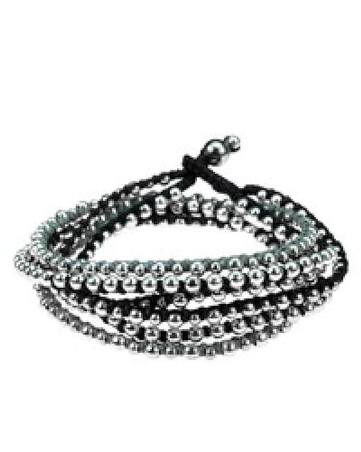 Aeravida | Metallic Trendy Round Silver Beads Triple Layer Bracelet/necklace | Lyst