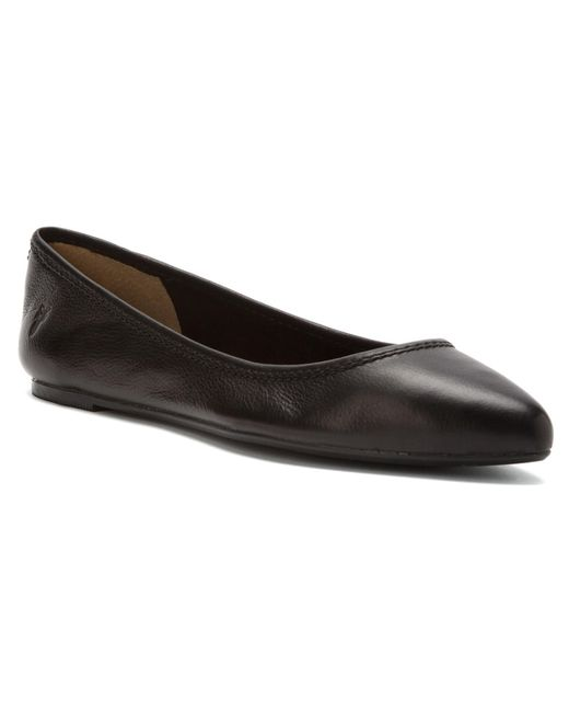 Frye | Black Regina Pointed-toe Leather Ballet Flats | Lyst