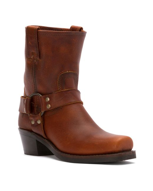 frye s harness 8r boots in brown lyst