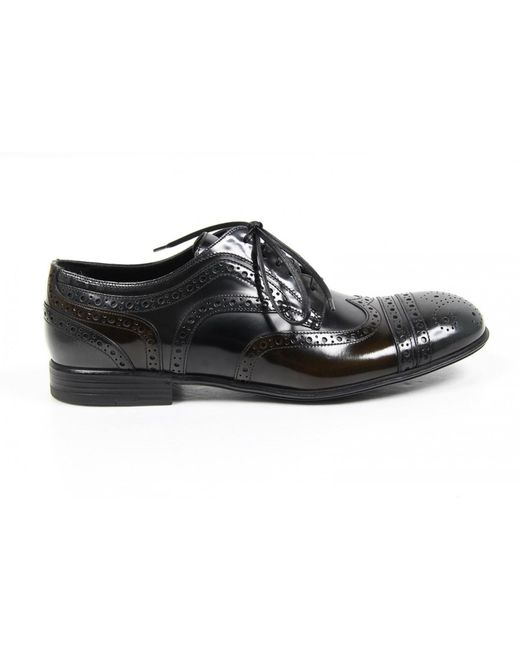 Dolce & Gabbana | Black Derby Milano Shoes for Men | Lyst