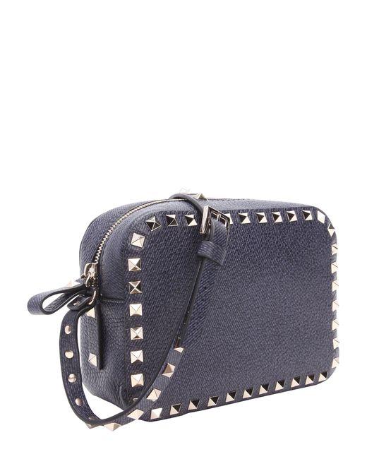 6cb8553d67bd Valentino Leather Rockstud Camera Bag - Black in Multicolor