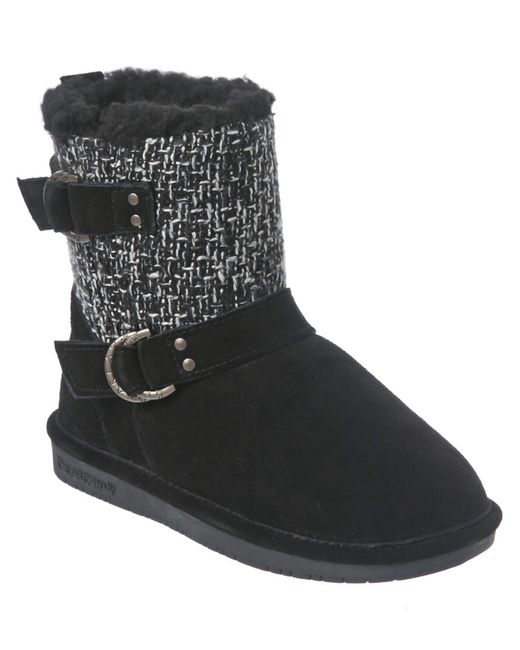 BEARPAW | Black Nova Suede Boot | Lyst