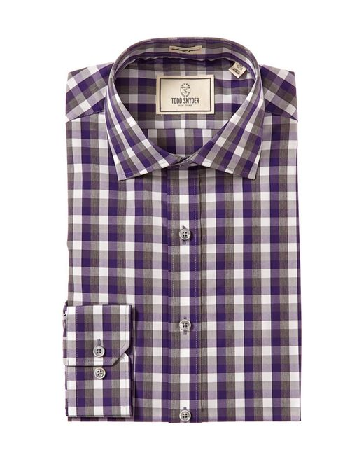 Todd Snyder   Purple Trim Fit Check Dress Shirt for Men   Lyst
