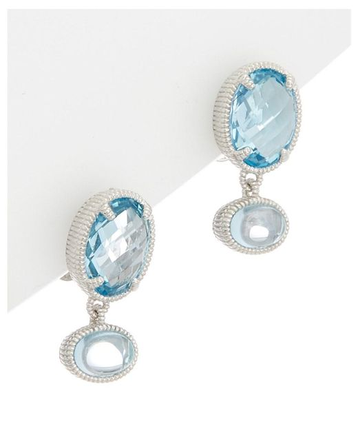 Judith Ripka - Silver 5.69 Ct. Tw. Sky Blue Topaz Drop Earrings - Lyst