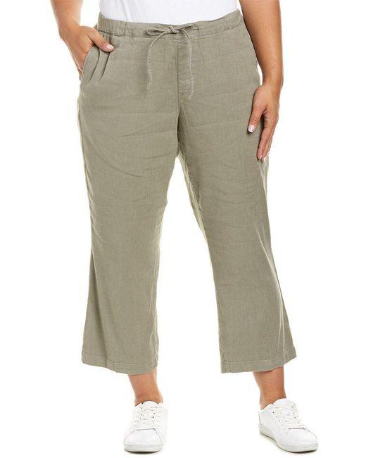 NYDJ - Multicolor Plus Sergeant Olive Drawstring Linen-blend Ankle Pant - Lyst