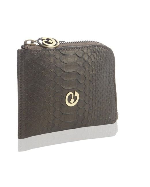 Nada Sawaya - Brown Medium Zip Around Python Wallet - Lyst