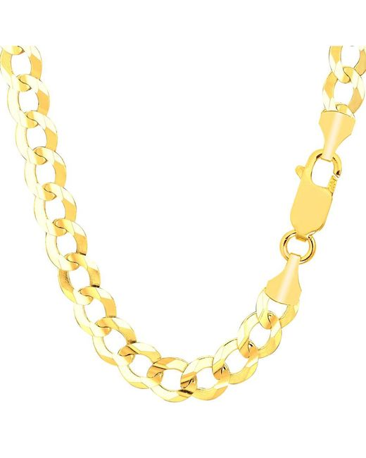 JewelryAffairs - 14k Yellow Solid Gold Comfort Curb Chain Bracelet, 8.2mm, 8.5 for Men - Lyst