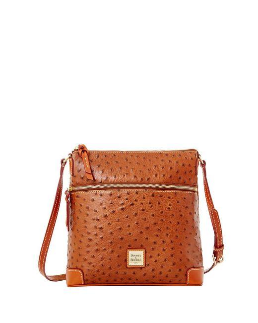 Dooney & Bourke | Pink Ostrich Crossbody Shoulder Bag | Lyst
