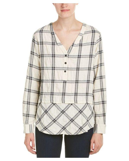 Fifteen Twenty   White Mix Match Plaid Shirt   Lyst