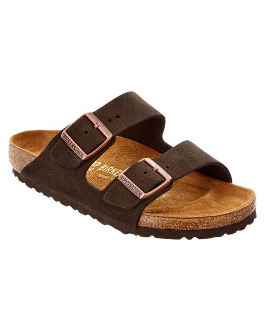 Birkenstock | Brown Arizona Suede Sandal | Lyst