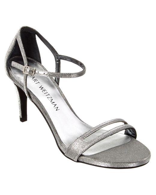 Stuart Weitzman | Metallic Showme Sandal | Lyst