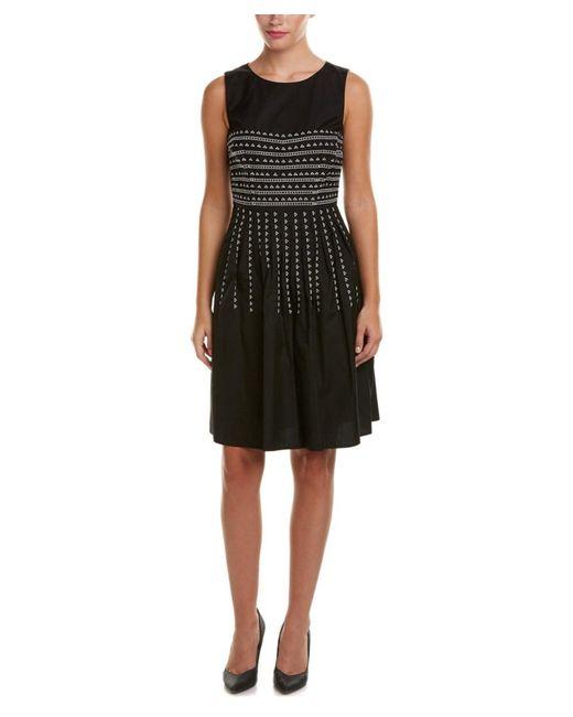 Tahari | Black Tahari Asl A-line Dress | Lyst