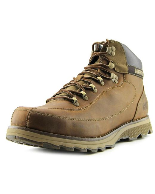 Caterpillar | Highbury Men Round Toe Leather Brown Boot for Men | Lyst