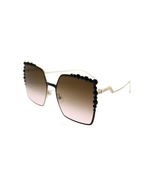 Fendi - Can Eye Ff 0259 2o5 Black Square Sunglasses - Lyst