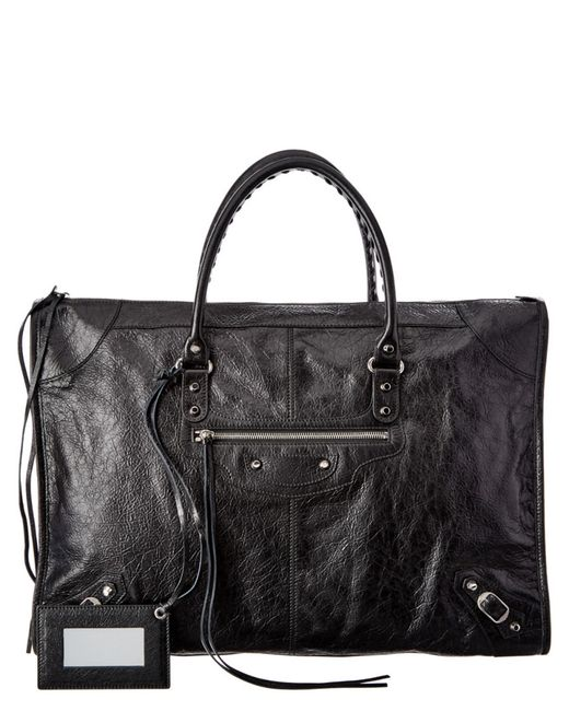 Balenciaga | Black Classic Metallic Edge Mini City Leather Tote | Lyst