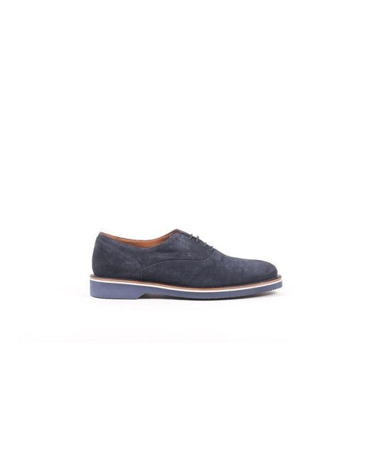 Fratelli Rossetti - Men's Blue Suede Lace-up Shoes for Men - Lyst