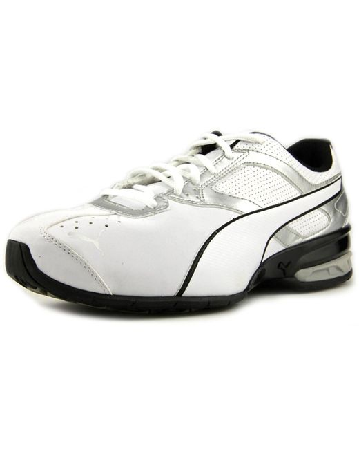 PUMA | Tazon 6 Men Round Toe Synthetic White Running Shoe for Men | Lyst