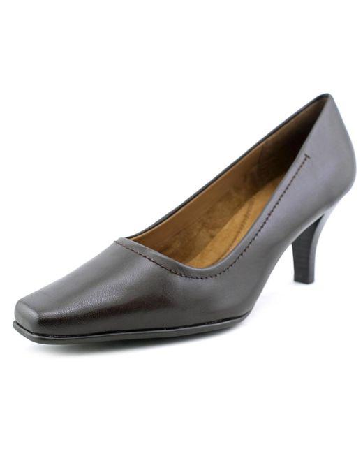 Aerosoles | Envy Women W Square Toe Leather Brown Heels | Lyst