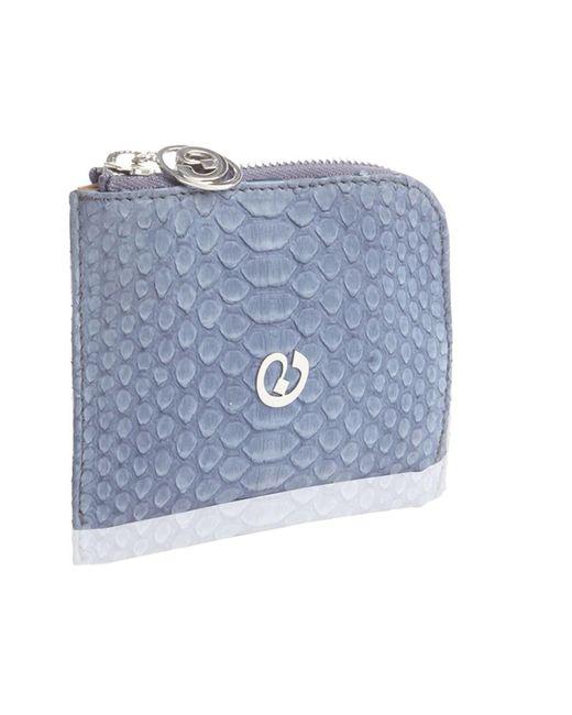 Nada Sawaya | Blue Medium Zip Around Python Wallet | Lyst
