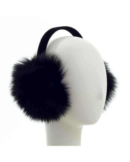 Surell | Black Genuine Fox Fur Earmuff | Lyst