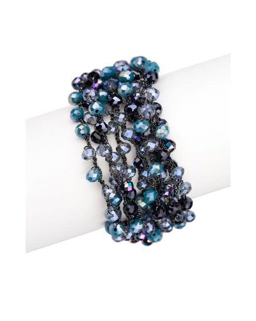 Saachi   Blue Mardi Beaded Bracelet   Lyst