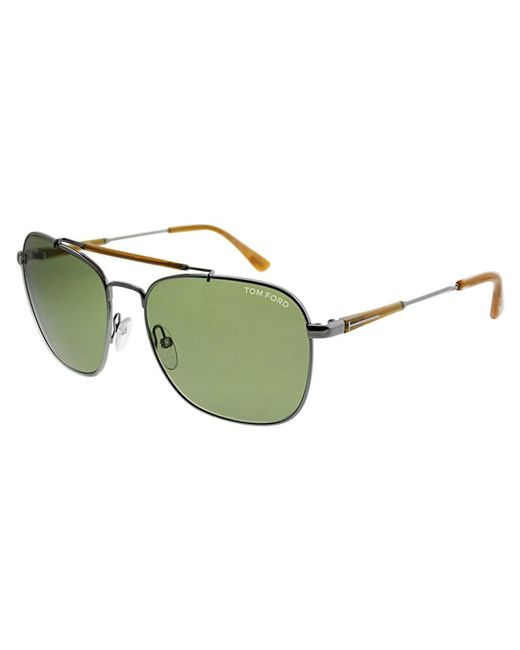 16b99660a9e39 Tom Ford - Green Unisex Ft0377 58mm Sunglasses - Lyst ...