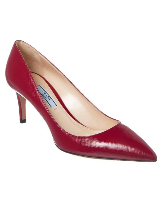 Prada | Multicolor Saffiano Patent 65 Pointy-toe Pump | Lyst
