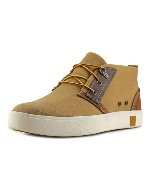 timberland amherst desert boot canvas fashion sneakers in natural for men lyst. Black Bedroom Furniture Sets. Home Design Ideas