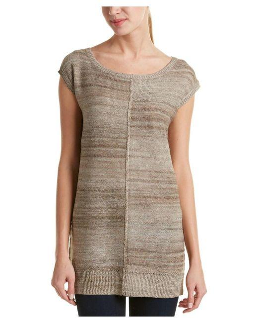 Joan Vass | Brown Linen-blend Tunic | Lyst