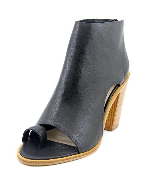 Loeffler Randall | Gigi Women Open-toe Leather Black Ankle Boot | Lyst